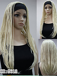 Fashion 3/4 Wig With Headband Long Braids wig Synthetic Half Wig Cosplay wig Many Color for choose
