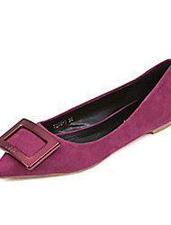 Women's Shoes Suede Flat Heel Ballerina / Autumn Women Casual Shoes Big Yards Apedal Lazy Side Buckle Pointed Flat Shoes