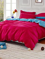 algodón yuxin®pure sarga de cuatro piezas larry kit de impresión en color liso actividad para por completo / reina / rey tamaño
