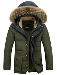Men's Long Down Coat , Nylon Pure Long Sleeve
