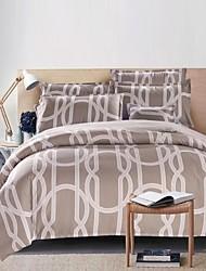 Elegant Design Bedding Set Of 4pcs Thick Sanding Fabric For Autumn & Winter Seasons Use