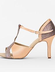 Zapatos de baile (Morado) - Danza latina/Salón de Baile - Personalizados - Tacón Personalizado
