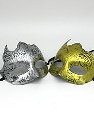 Artigos de Halloween Conto de Fadas Festival/Celebração Trajes da Noite das Bruxas Dourado / Prateado Cor Única MáscaraDia Das Bruxas /
