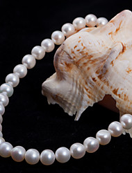 Lucky Doll Women's All Matching Sterling Silver Nature Pearl Necklace