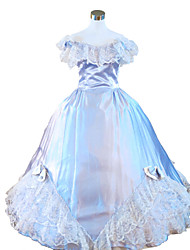 Steampunk®Sky Blue Civil War Southern Belle Ball Gown Dress Victorian Dress Halloween Party Dress