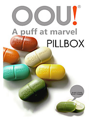 Portable Kit One Week PILLBOX Creative Cute Little Pillbox Ruled 6 grid Pills Store Content Box