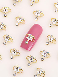 New 20PCS Gold Nail Art Jewelry Crown Nail Decorations Alloy Rhinestone Nails Aryclic Nails Nail Tips Decorations