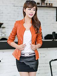 Women PU Big Size Korean Short  Outerwear / Top , Belt Not Included