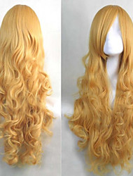 Animation Golden Long Hair Wig Fashion Festival