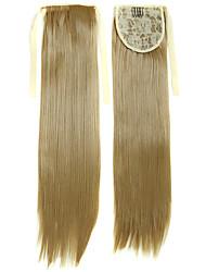 22 pouces blond doré postiche synthétique pince droite en ruban queue de cheval