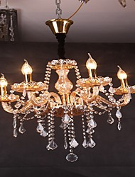 Style Living Room Lamp Crystal Candle Chandelier Bedroom Lamps LED Lighting Villa Hotel Wedding Chandelier 8052