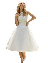 Women's Fashion  Above Knee Sleeveless Lace Mesh A Line Dress