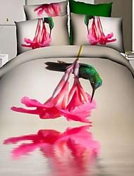 Duvet Cover Set,4 Piece  100% Cotton 3D Painting Bedding Sets Bedclothes Bed Linens Sheet Sets