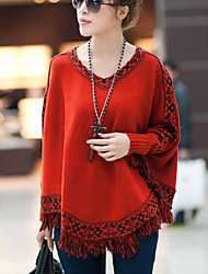 Moon Sunday Women's All Match Cut Out Tassel Plus Size Blouse