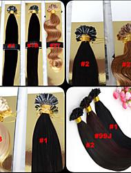 "100pcs 12-26"" Brazilian Virgin Hair U Tip Fusion Hair Extension Nail Tip Hair Extensions Keratin Fusion 001"