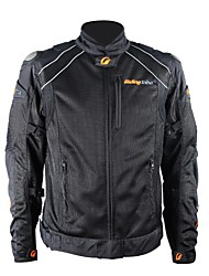 Riding Tribe Motorcycle Riding Jackets  Motorbike Protective Windproof Racing Jacket (Black)