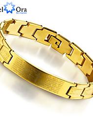 2015 New 18k Gold Plated Bracelet For Men Titanium steel Thick Rock Bracelet Men