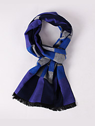 The Blue Grey Plaid Scarves