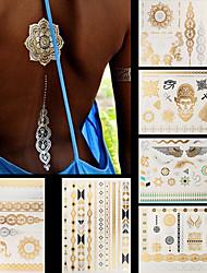Unbranded - Tatuajes Adhesivos - Non Toxic / Modelo / Talla Grande / Parte Lumbar / Waterproof / Metálico -Series de Joya / Series de