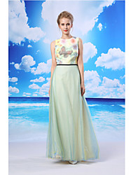 TS Couture® Formal Evening Dress A-line Jewel Floor-length Organza / Satin with