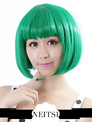 "Neitsi 100% Kanekalon Fiber 14""(35cm) 160g/pc Women's Girl's Cosplay Short Synthetic BOB Hair Wigs Green"