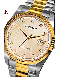 EASMAN® Brand Watch Men Gold Plated Watch Luxury Screw Crown Sapphire Automatic Mechanical Wristwatch Men Watch Cool Watch Unique Watch