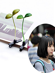 3D Bean Sprouts Design Hair Clip Grass Hairpin Barrettes