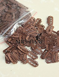 2.3cm Middle Brown Colour Small U Hairdressing Styling Clips for Clip Extensions Weft/wigs Hair Tools  100pcs