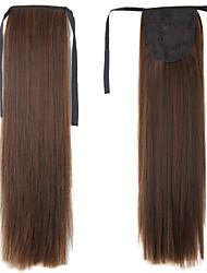 22 pouces de cheveux synthétiques pince droite en queue de cheval