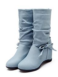 Feminino-Botas-Sapatos com Bolsa Combinando-Anabela-Preto / Azul / Rosa / Bege / Azul Real-Jeans-Casual / Festas & Noite