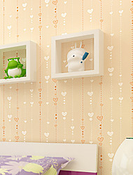 Contemporary Wallpaper Art Deco 3D Love Bead Curtain Wallpaper Wall Covering Non-woven Fabric Wall Art