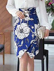 DABUWAWA Women's Casual/Party/Print Asymmetrical Split High Waist Skirts
