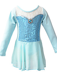 Baohulu Children Girls Frozen Anna/Elsa Fairy Princess Ballet Gymnastic Long Sleeve Leotard Dancewear Dress for 3-12Y