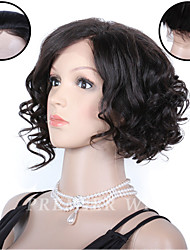 Premierwigs 8''European Virgin Short Curly Full Lace Human Hair Wigs Silk Base Lace Front Wigs For Black Women