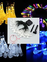 4.8M 20-LED Solar Energy Raindrop Water-Drop Waterproof String Light Garden Christmas Party Decoration