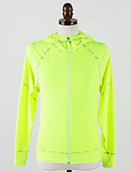Running Jacket / Tops Women's Long Sleeve Moisture Permeability / Lightweight Materials Cotton / Terylene / ChinlonYoga / Camping &