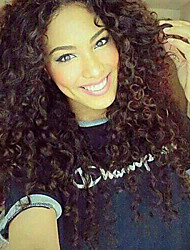 "10""-30""Brazilian Virgin Human Hair Kinky Curly Human Hair Lace Wigs For Black Women"