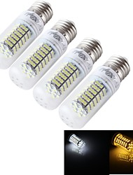 YouOKLight® 4PCS E14/E27 12W 1000lm CRI>80 3000K/6000K 120*SMD3528 LED Light Corn Bulb (AC/DC9-30V/AC85-265V)