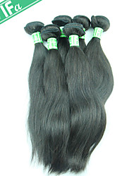 Indian Virgin Remy Hair 5Pcs/Lot Straight Unprocessed Human Indian Hair Extension Natural Black Hair