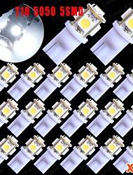 20x T10 5050 cale 5 cms super blanc plaque d'immatriculation 6000k lumière intérieure 168 194