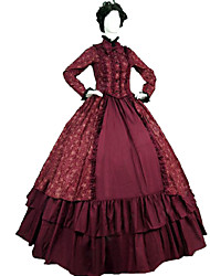 Steampunk®Victorian Gothic Cosplay Dress Ball Gown Steampunk Reenactment Dresses