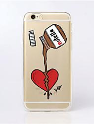 Para Funda iPhone 5 Carcasa Funda Ultrafina Transparente Diseños Cubierta Trasera Funda Dibujos Suave TPU para iPhone SE/5s iPhone 5