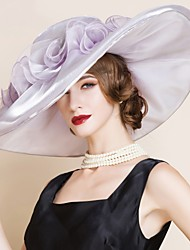 Women's Organza Headpiece-Wedding / Special Occasion Hats 1 Piece Head circumference 57cm