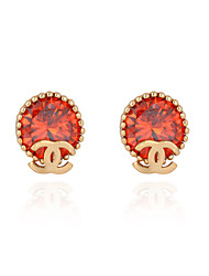 Ya Ge Women's Fashion Sell Like Hot Cakes Contracted 18K Gold Plated Stud Earring