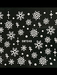 3D Christmas Snowflake Dot Nail Art Stickers