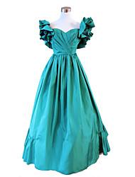 Steampunk®Civil War Southern Belle Ball Gown Dress Green Victorian Dress Halloween Party Dress