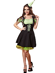 Halloween / Christmas / Carnival Female Fairytale Costumes / Uniforms Costumes Dress / Hats