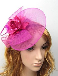 Women's Feather Tulle Headpiece Fascinators Headband