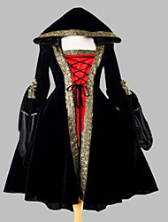 Steampunk®Gothic Victorian Dress Hooded Dress Long Halloween Costume
