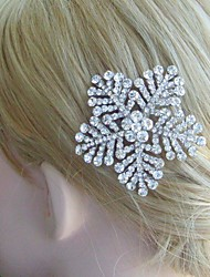 Bridal Hair Jewelry Wedding Hair Comb Silver-tone Rhinestone Crystal Flower Hair Comb Bridal Hair Comb Bridal Jewelry